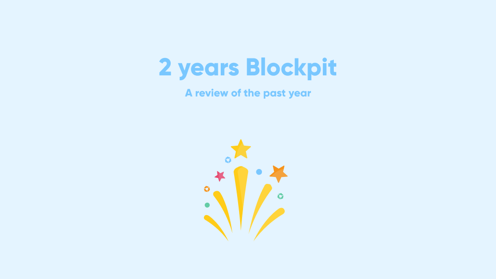 blockpit two years birthday cryptocurrency crypto blockchain taxes software