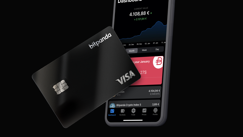Bitpanda Visa-Debit-Card allows payments with digital assets