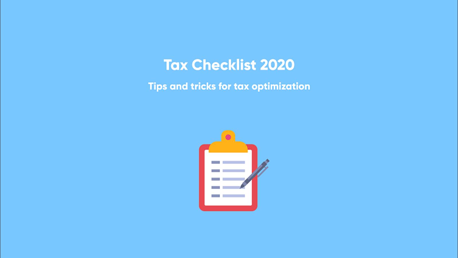 Checkliste für das Ende des Steuerjahres 2020