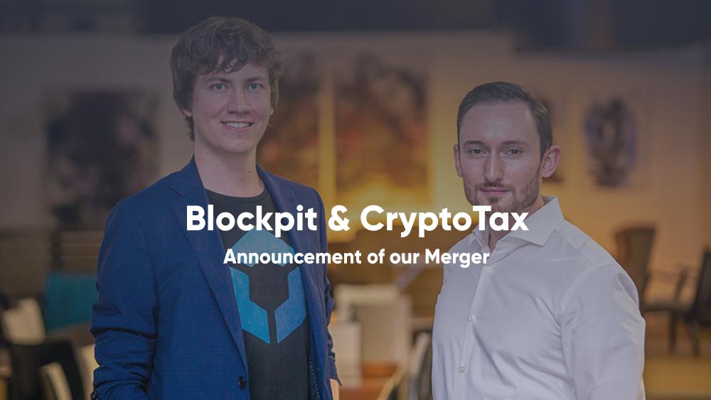 Blockpit and CryptoTax Announce their Merger