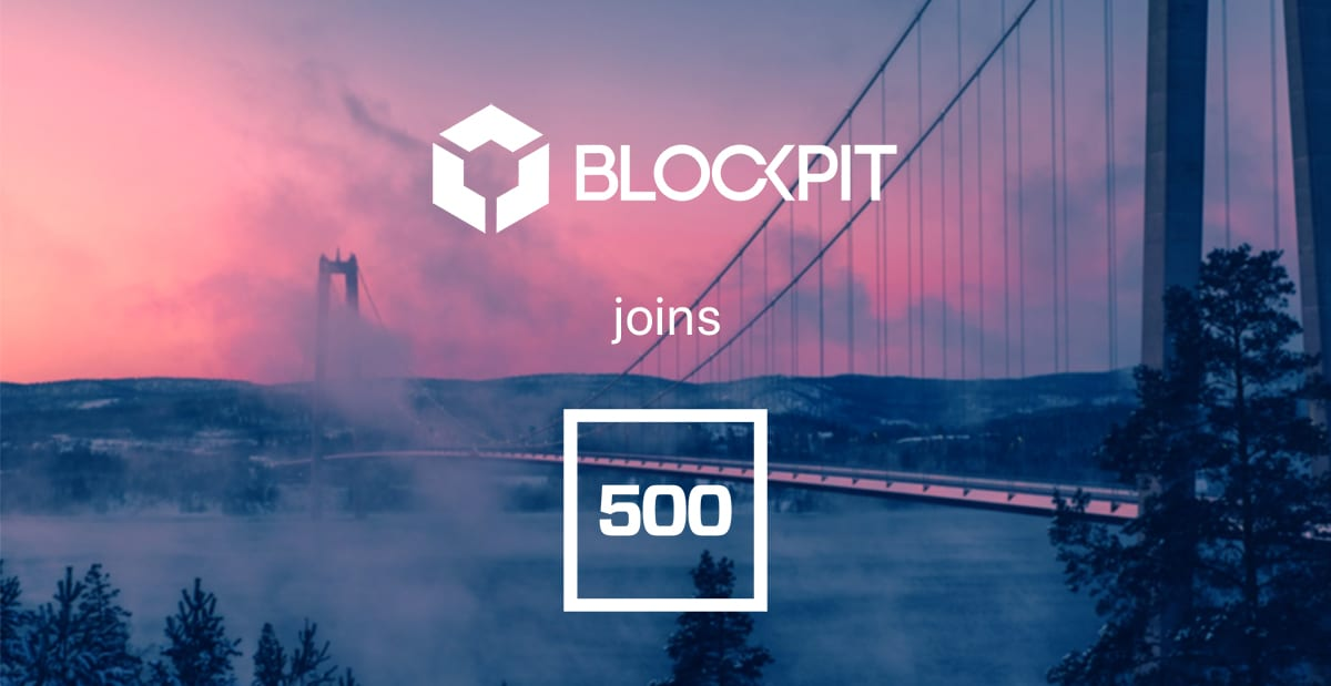 Blockpit joins 500 Startups' first blockchain program