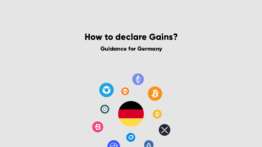 Declare cryptocurrency gains in the income tax declaration for Germany Blockpit