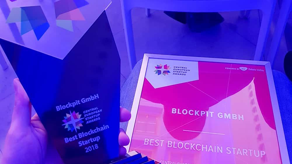 CESAwards als bestes Blockchain Startup 2018
