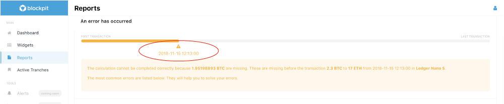 Blockpit Platform - easy error correction