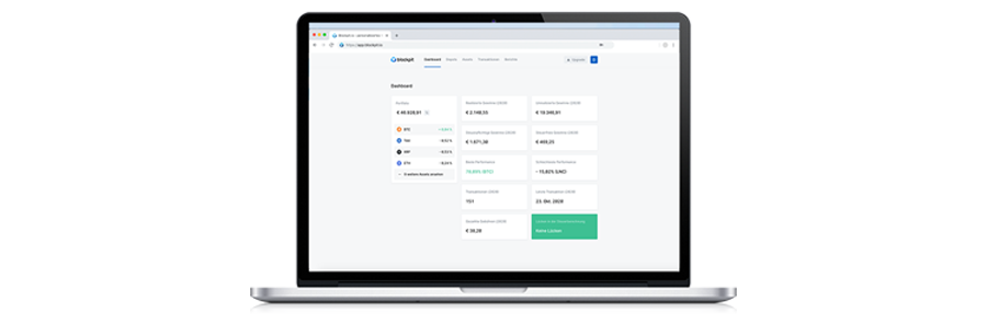 Crypto Tax Software from Blockpit