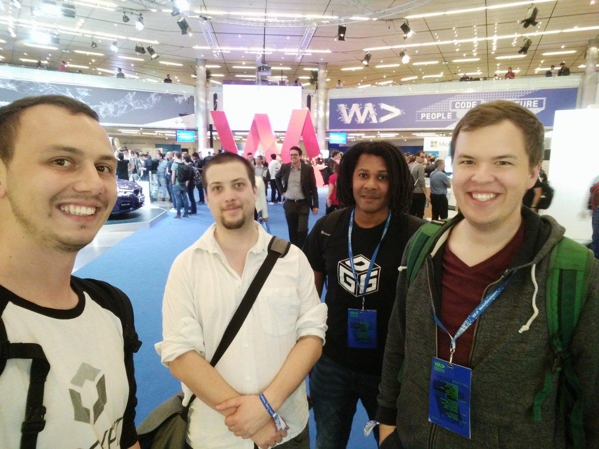 Das Entwicklerteam von Blockpit bei der WeAreDevelopers-Konferenz 2018