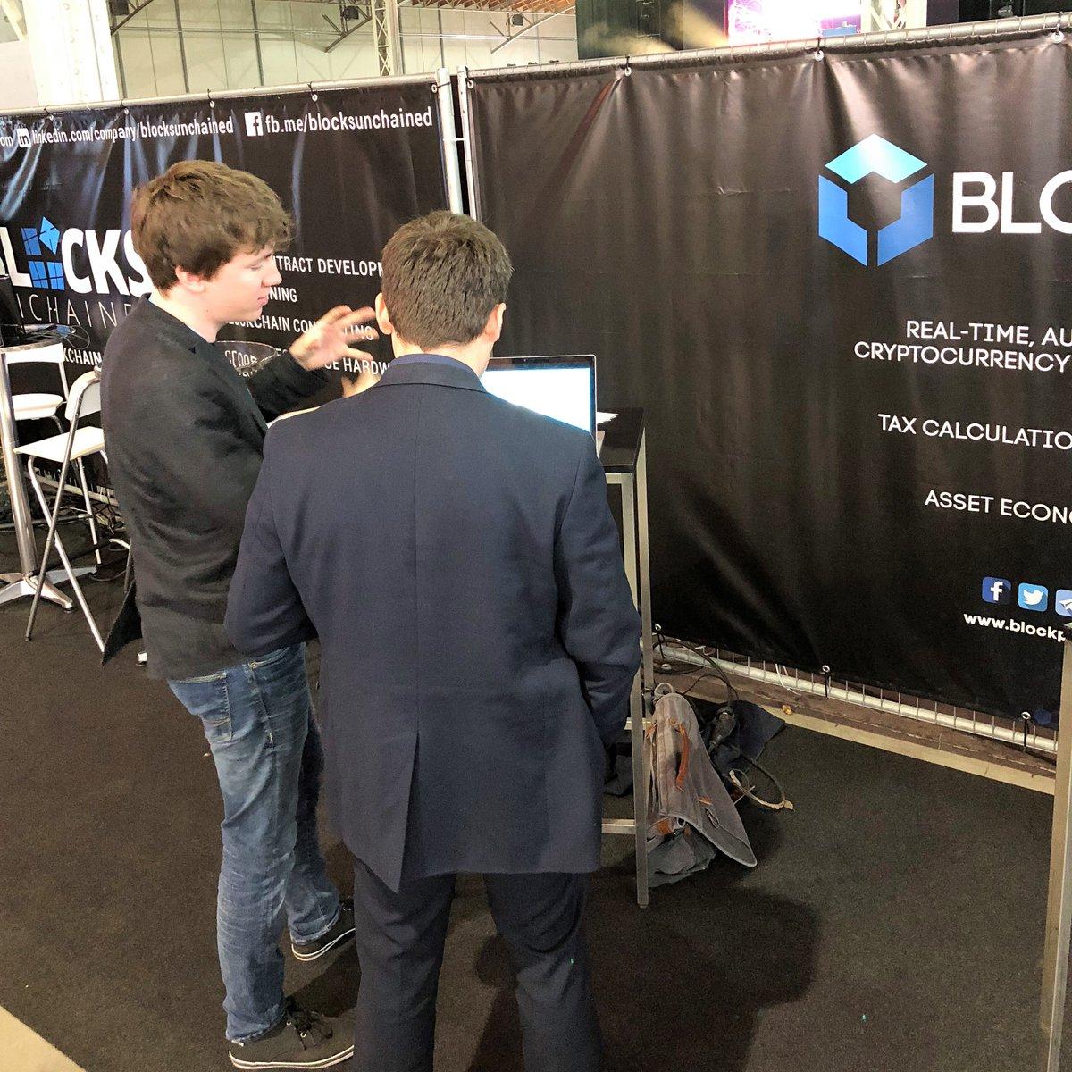 Blockpit-CEO Florian Wimmer bei einer Konferenz